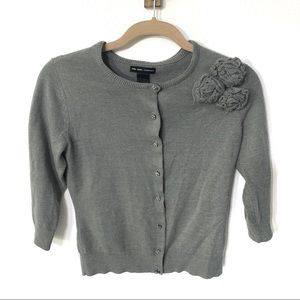 NEW YORK & CO | jeweled button 3/4 sleeve cardigan